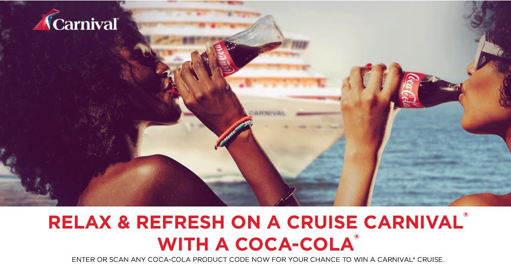 Coco cola - Carnival Cruise Line Sweepstakes   Participate and Chance to Win $1,500 USD Carnival Cruise Line Gift Card