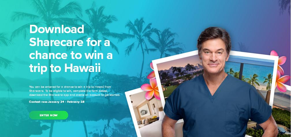 Sharecare Sweepstakes – Enter For Stand a Chance To Win A Trip