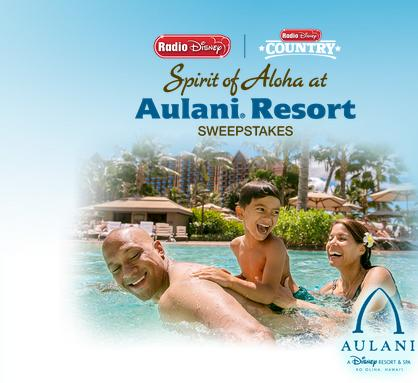 Spirit of Aloha At Aulani Resort Sweepstakes