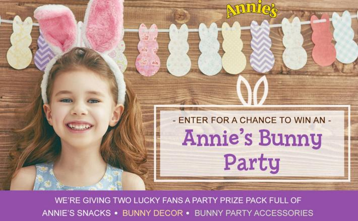 Annie's Bunny Party Sweepstakes – Chance to Win Bunny Themed Party Supplies
