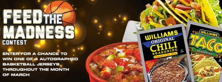 Williams 2018 Feed the Madness Sweepstakes – Chance to Win Autographed NBA Baskeball Jersey