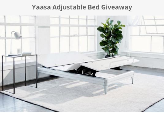 Yaasa Adjustable Bed Giveaway Sweepstakes – Chance to Win a Yaasa Adjustable Bed