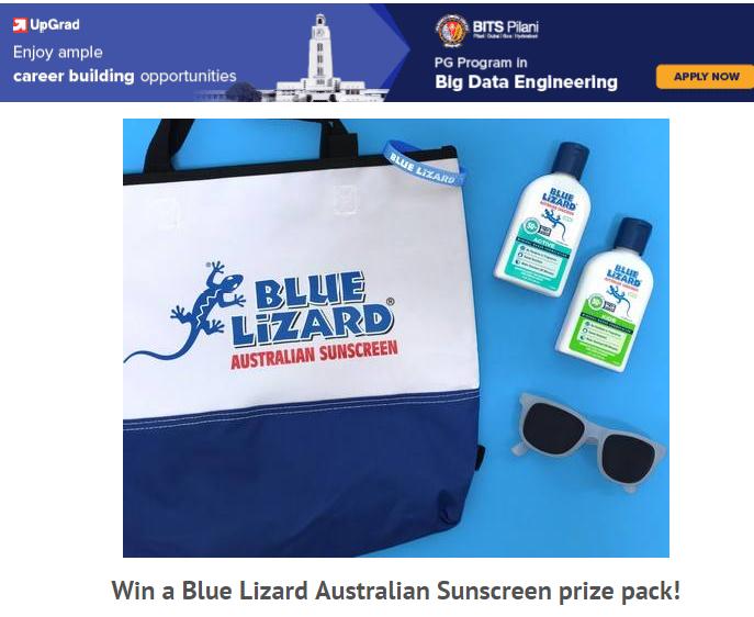 Blue Lizard Sunscreen National Picnic Day Giveaway