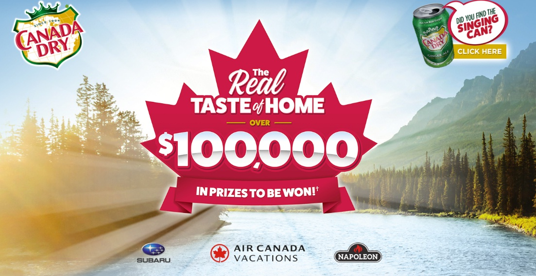 Canada Dry Real Taste of Home Contest - Win Gift Certificate And Lots of Prizes