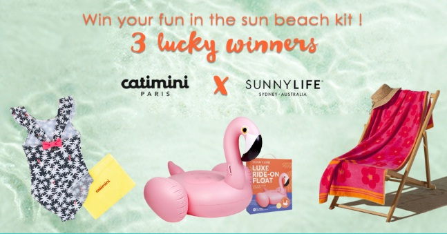 Catimini Fun In The Sun Sweepstakes - Win Three Sunnylife Luxe Ride On Floats And More Prizes