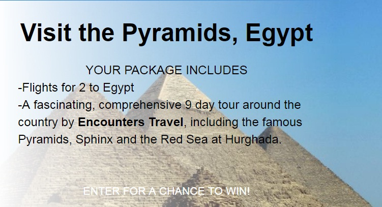 Deal Wiki Trip To Egypt Sweepstakes - Win Fly To Egypt