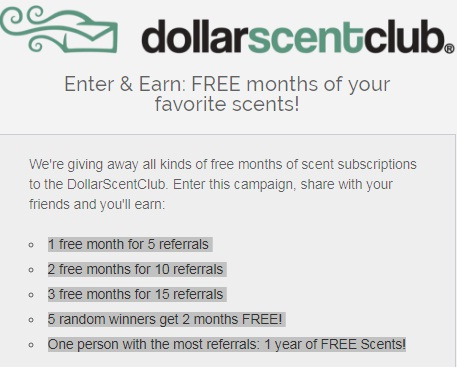 DollarScentClub Enter & Earn Giveaway - Win Free Months Of Scent Subscription