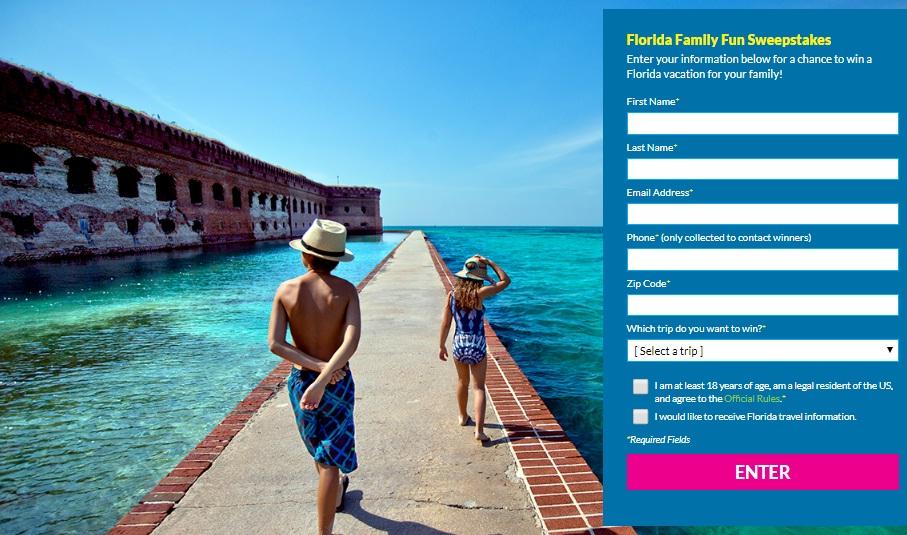 Florida Family Fun Sweepstakes - Win A Trip To Amelia Island And Daytona Beach