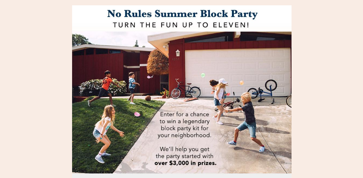 Gymboree No Rules Summer Block Party Sweepstakes