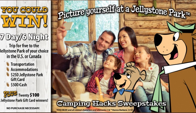 Jellystone Park Camping Hacks Sweepstakes - Win A Trip To The Jellystone Park