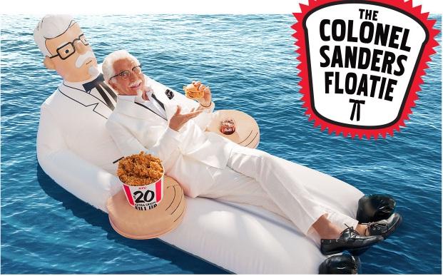 KFC Colonel Sanders Floatie Giveaway - Win Colonel Sanders Floatie