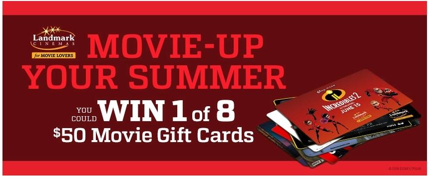 Landmark Cinemas Movie Up Your Summer Contest - Win Gift Card