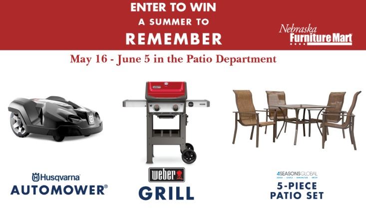 Nebraska Furniture Mart A Summer To Remember Contest - Win A Husqvarna Automower And More