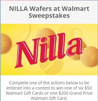 Nilla Wafers At Walmart Sweepstakes - Win Walmart Gift Card