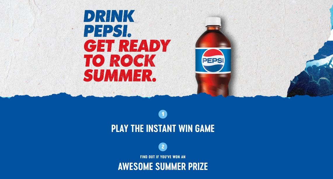 Pepsi Summer Music Instant Win Game - Win Concert Ticket