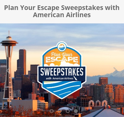 Plan Your Escape Sweepstakes - Win A American Airlines Mileage Certificate