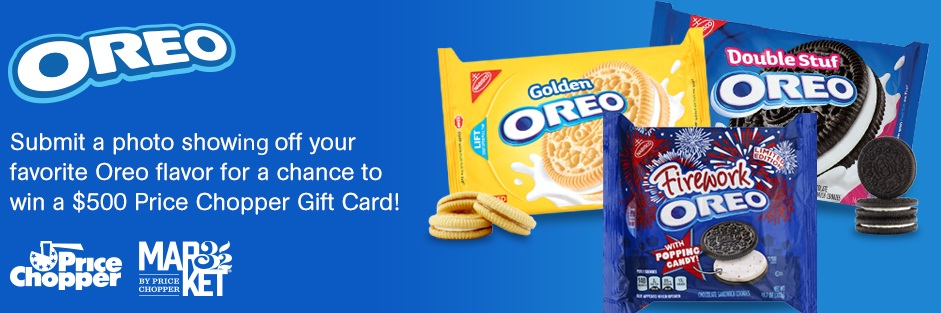 Price Chopper Oreo Favorite Flavors Sweepstakes 2018 - Win Gift Cards