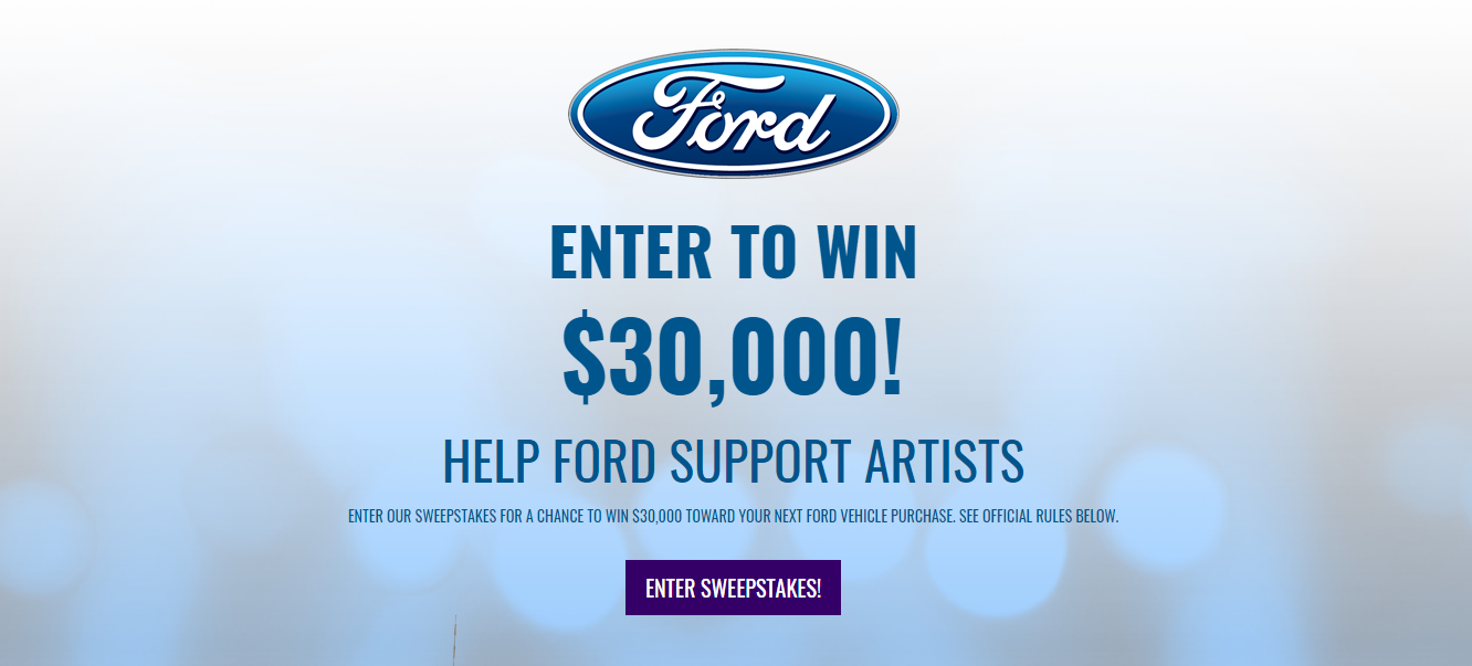 The 2018 Byg Ford Sweepstakes