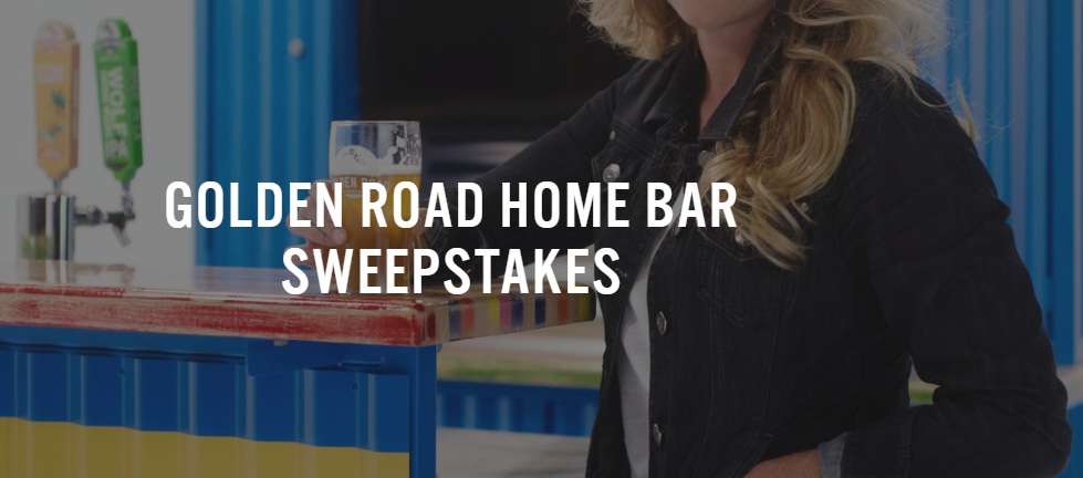 The Golden Road Beerland Dream Bar Sweepstakes - Win A Home Bar Upgrade