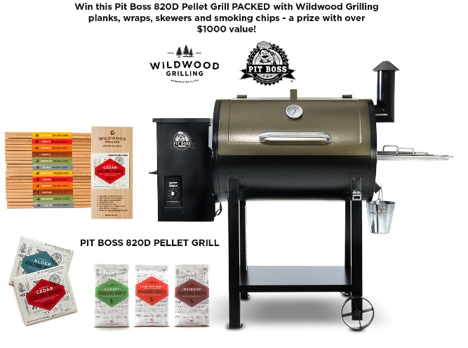 Wildwood Grilling National BBQ Month Giveaway - Win Pit Boss 820D Pellet Grill