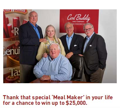 Buddig Thanks to Meal Makers Sweepstakes