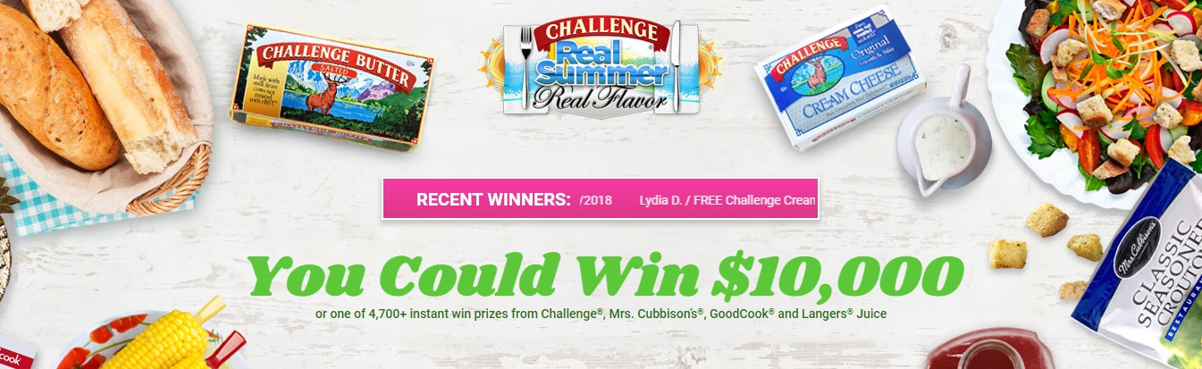Challenge Real Summer And Real Flavor Instant Win & Sweepstakes