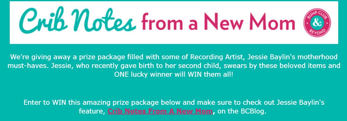 Crib Notes From A New Mom Sweepstakes