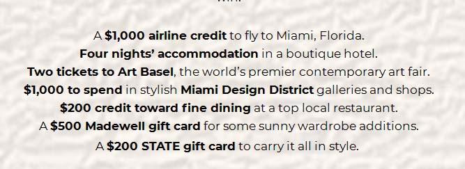 Go Places Miami Sweepstakes