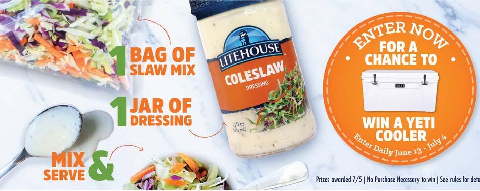 Litehouse Foods Coleslaw Sweepstakes