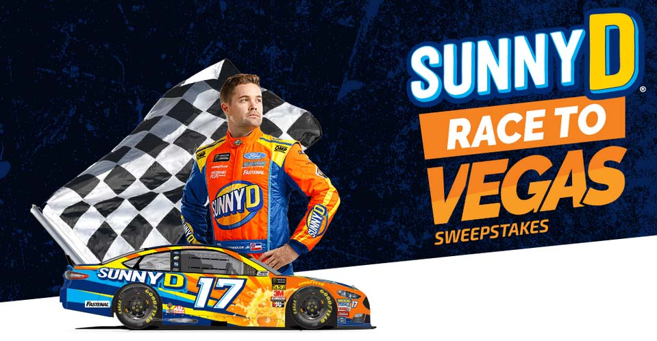 SunnyD Race To Vegas Sweepstakes And Instant Win Game