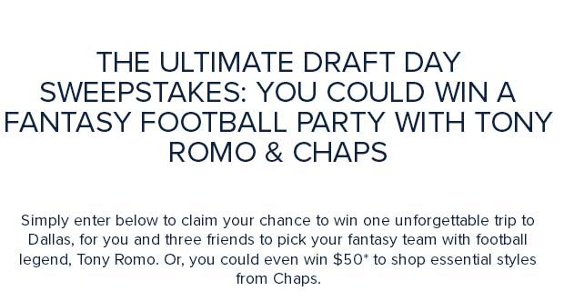 The Ultimate Draft Day Sweepstakes