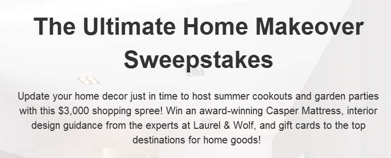 The Ultimate Home Makeover Sweepstakes