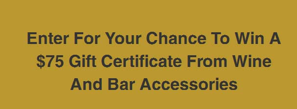 Wine And Bar Accessories Gift Card Sweepstake