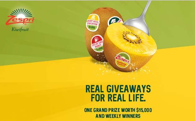 Zespri Real Life Giveaway
