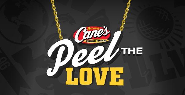 Raising Cane's Peel The Love Instant Win Game