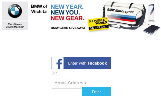 BMW Gear Giveaway January Sweepstakes