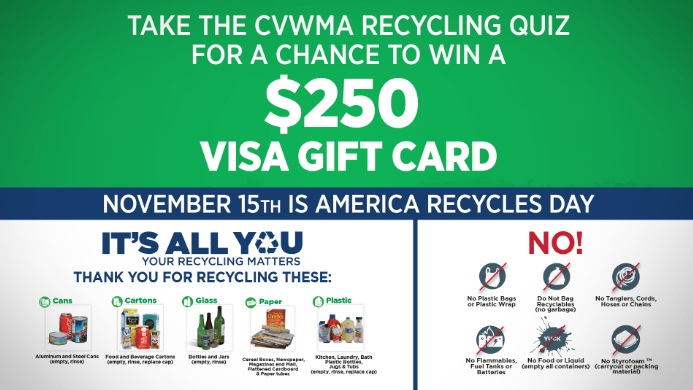 WRIC Cvwma Recycling Gift Card Sweepstakes