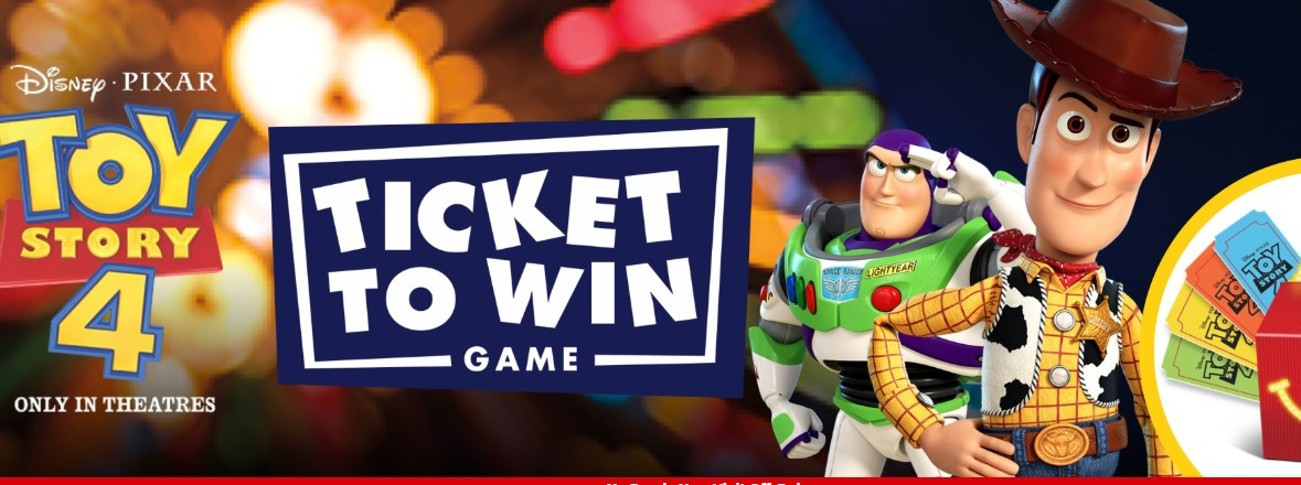 McDonalds Ticket To Win Game