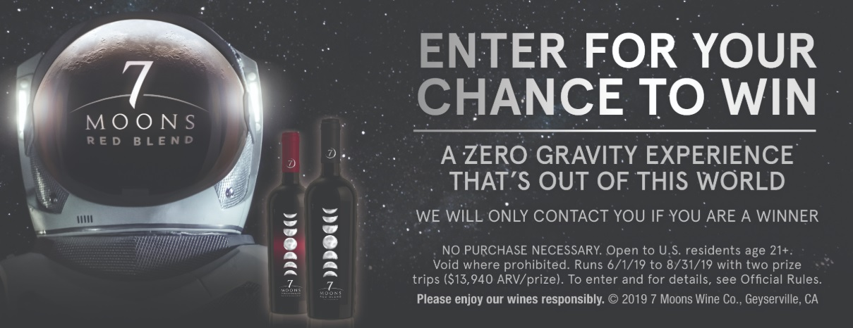 7 Moons Zero Gravity Sweepstakes