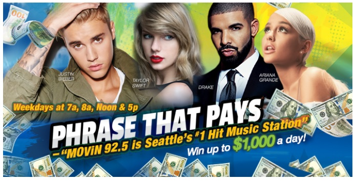 MOViN 92.5 Phrase That Pays Contest