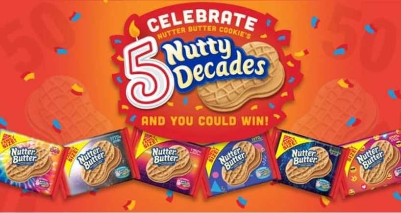 Nutter Butter Celebrate 5 Nutty Decades Sweepstakes