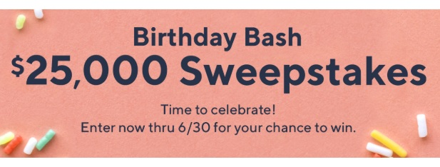QVC Birthday Bash $25000 Sweepstakes