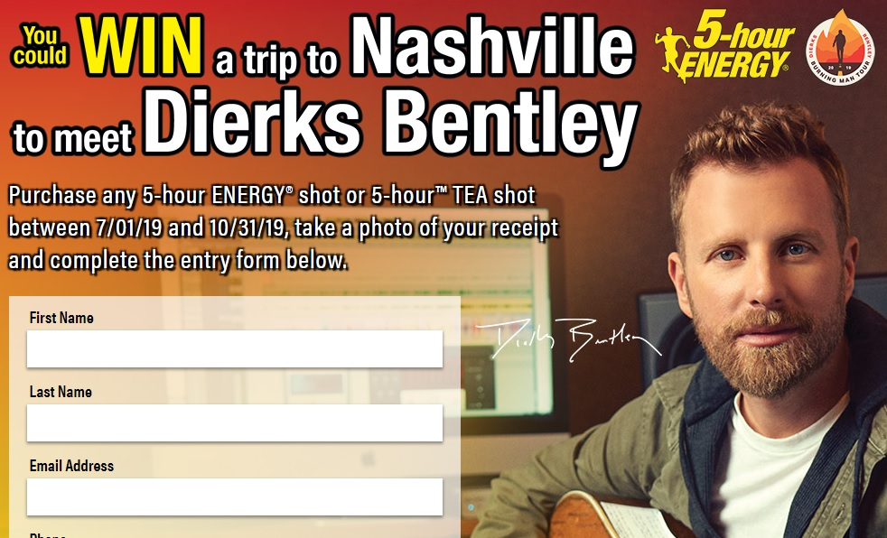 Living Essentials 5-Hour Energy Country Sweepstakes