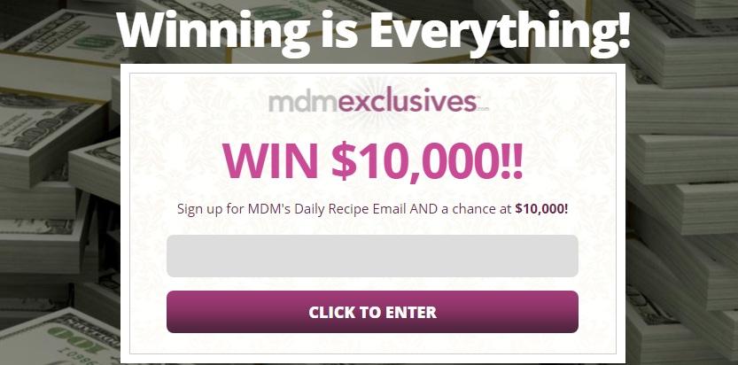 Flatiron Media MyDailyMoment $10,000 Cash Sweepstakes