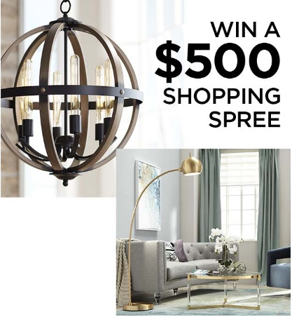 Lamps Plus $500 Shopping Spree Sweepstakes