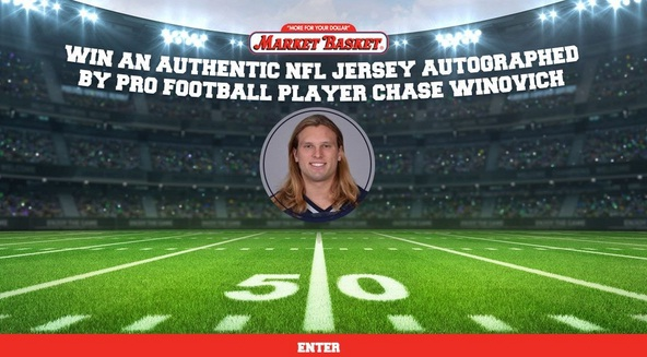 Chase Winovich Autograph NFL Jersey Event Sweepstakes