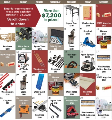 Meredith Corporation Woods Prize-a-Day Giveaway