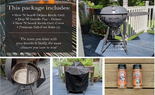 SnS Grills Slow N Sear Deluxe Kettle Grill Package Giveaway