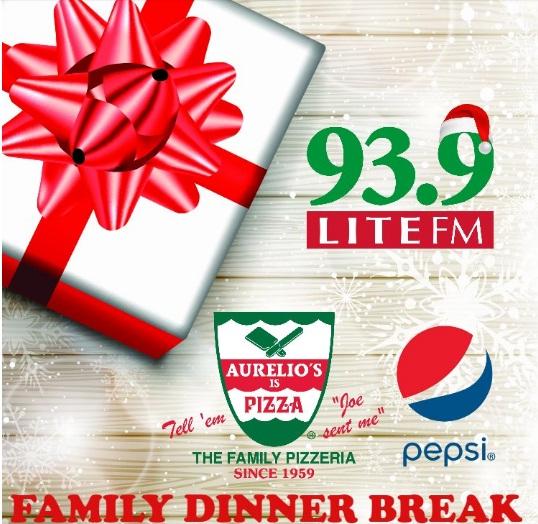 Aurelio Pizza Family Dinner Sweepstakes