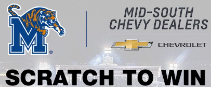 Mid-South Chevy Dealers And Tigers Scratch To Win Sweepstakes